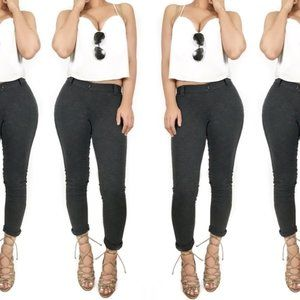 THEORY Grey Skinny Comfy Jeggings